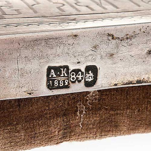 Icona antica russa Pantocratore riza argento con punzone 6