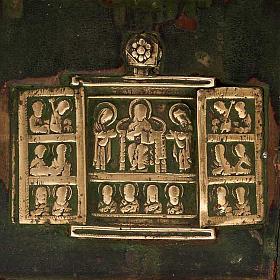 Stauroteca antica russa 11 bronzi da XVI a XVIII secolo s2
