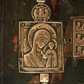 Stauroteca antica russa 11 bronzi da XVI a XVIII secolo s3