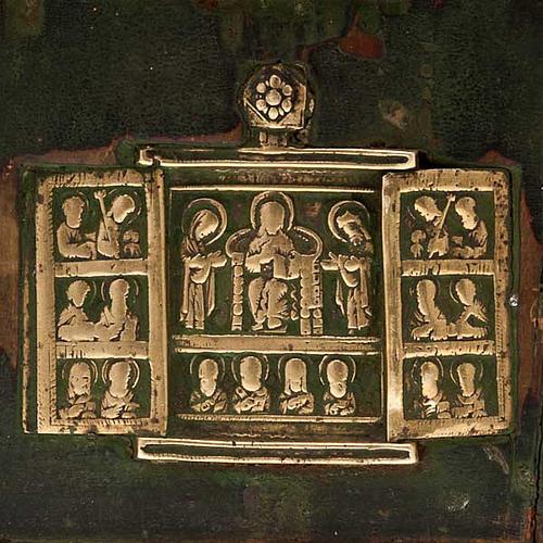 Stauroteca antica russa 11 bronzi da XVI a XVIII secolo 2