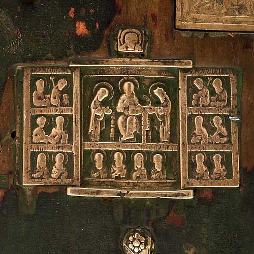 Stauroteca antica russa 11 bronzi da XVI a XVIII secolo 4