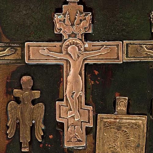 Stauroteca antica russa 11 bronzi da XVI a XVIII secolo 5