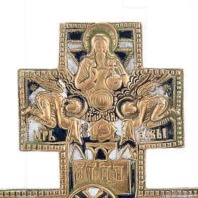 Crocifisso ortodosso antico in bronzo XVIII secolo s2