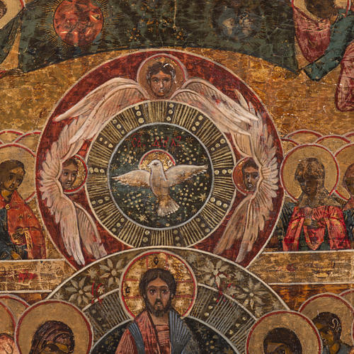 Old Russian Icon Last Judgment, 19th century 3