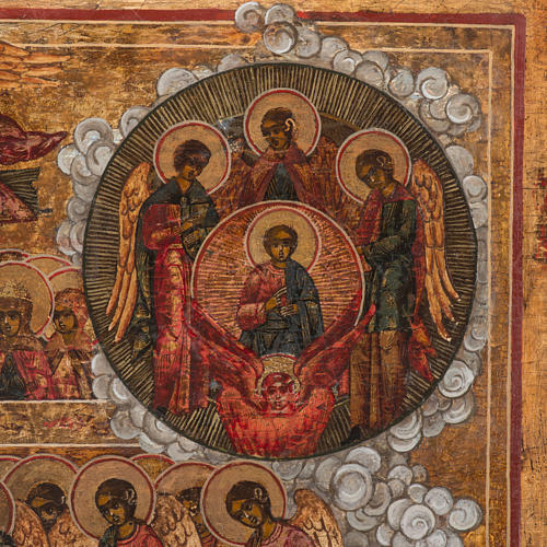 Old Russian Icon Last Judgment, 19th century 5