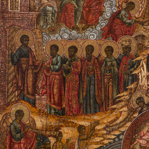 Old Russian Icon Last Judgment, 19th century 6