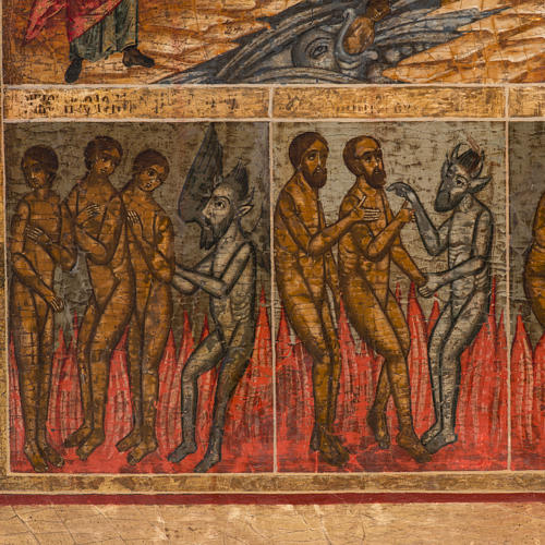 Old Russian Icon Last Judgment, 19th century 10