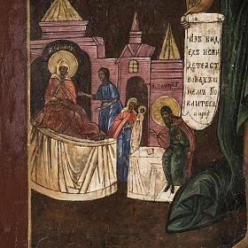 Old Russian Icon of St. John the Precursor 18th century s4