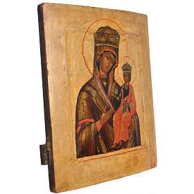 Icona russa antica Madonna Odighitria XVIII secolo s2