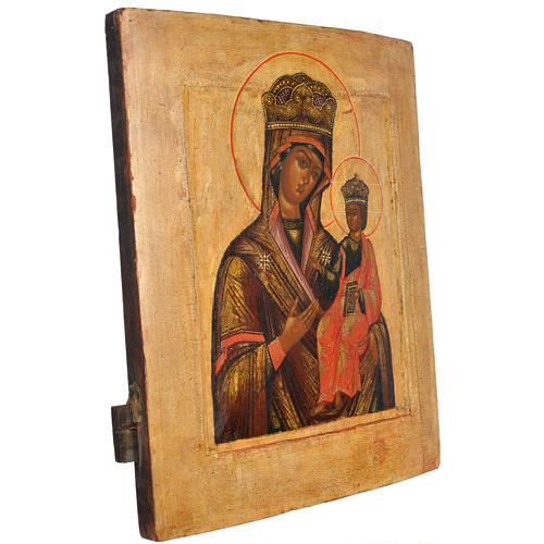 Icona russa antica Madonna Odighitria XVIII secolo 2