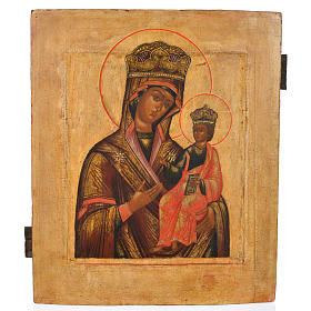Antique Russian icon, Our Lady Odighitra XVIII century s1