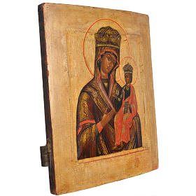 Antique Russian icon, Our Lady Odighitra XVIII century s2