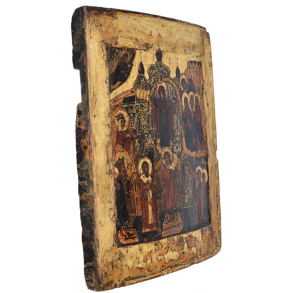 Icona russa antica Pokrov XVII secolo 4
