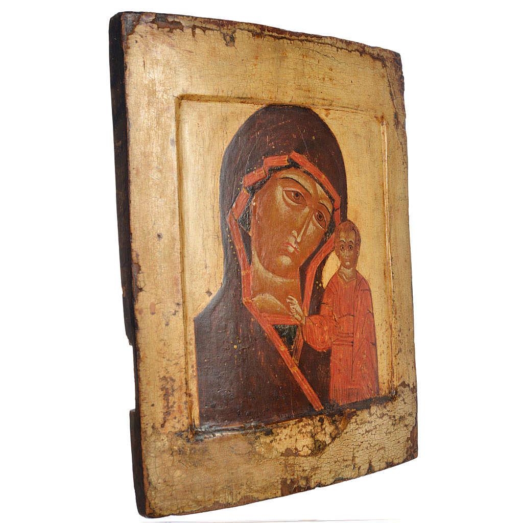 Icona russa antica Kazan XVII secolo 4