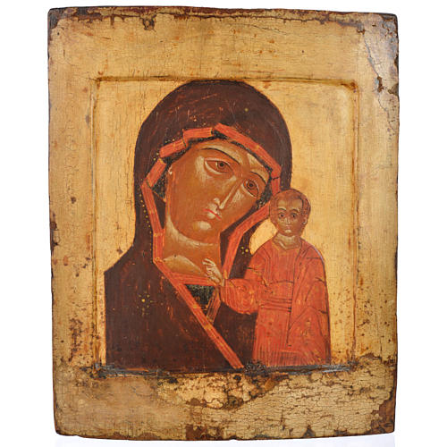 Icona russa antica Kazan XVII secolo 1