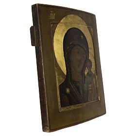 Icona russa antica Madonna Kazan XIX secolo s5