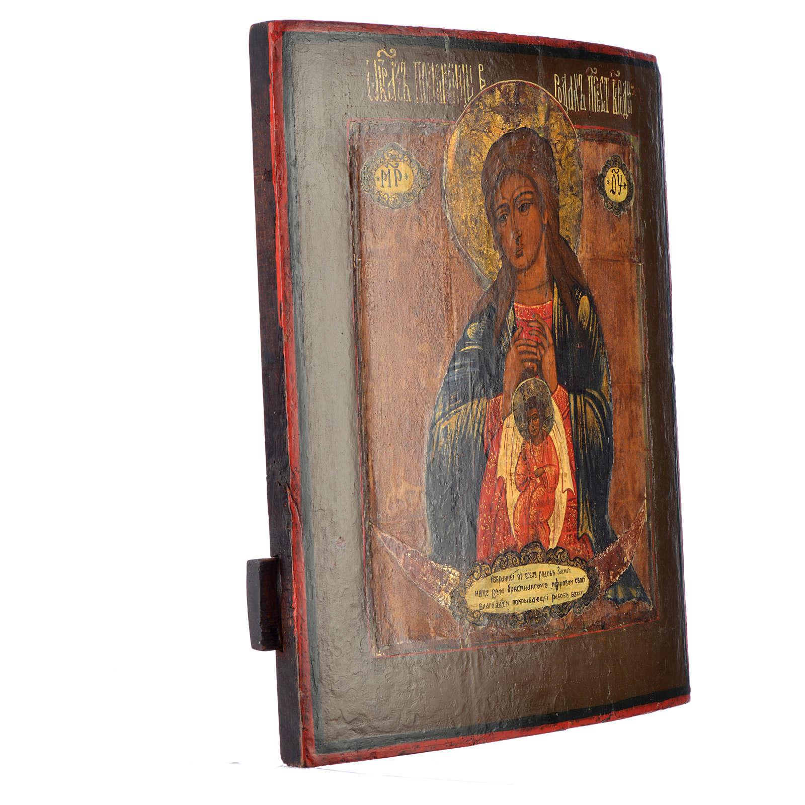 Icona russa antica Madonna del Parto 4