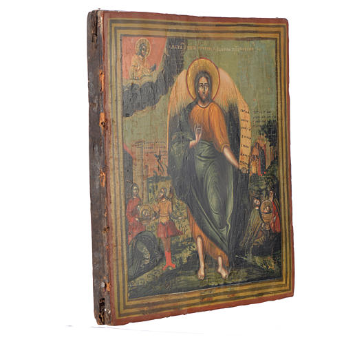 Russian icon Saint John the Baptist, XIX century 31x27 cm 2
