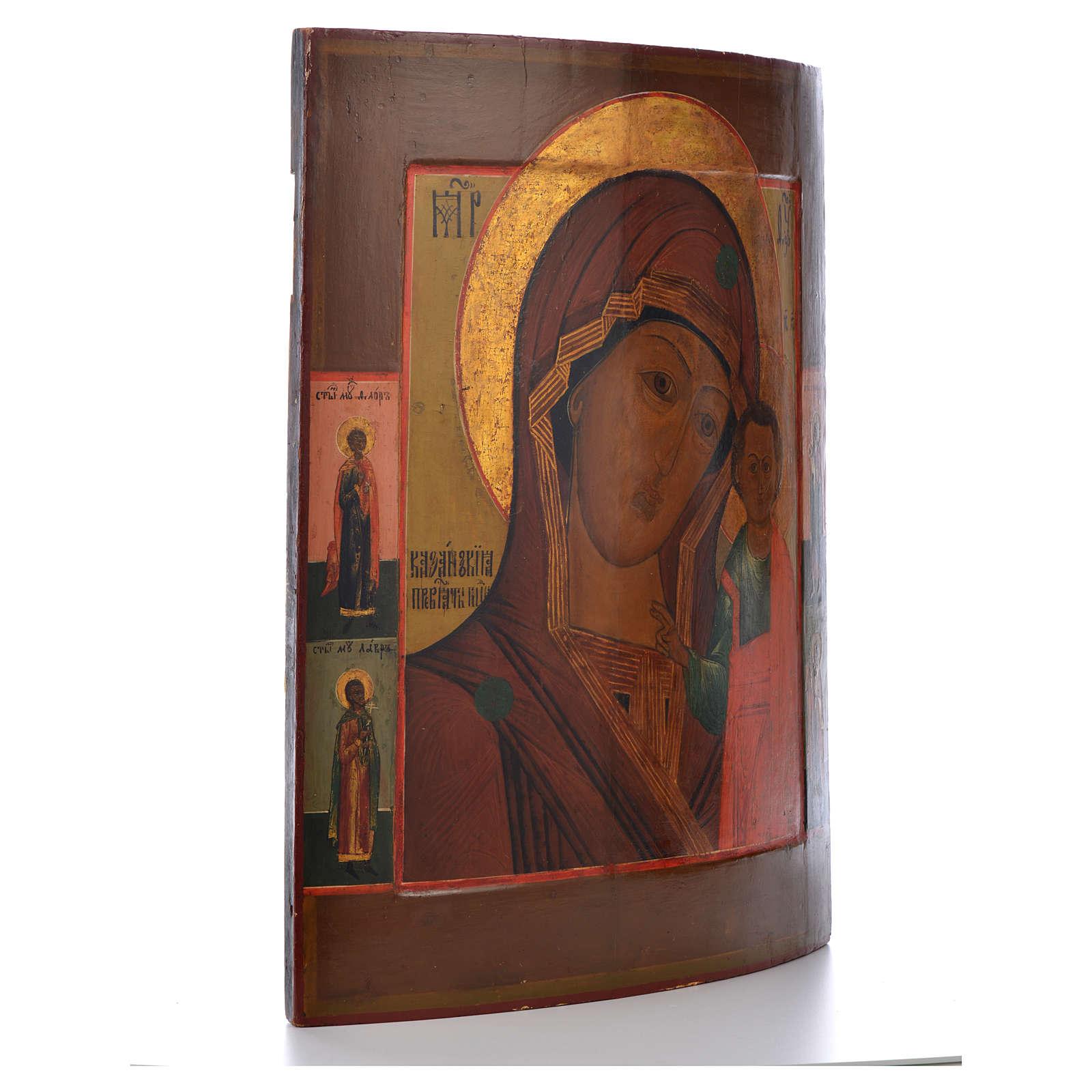 Icono Ruso antiguo Virgen de Kazan mitad del XIX, 53,3 x 46 cm 4
