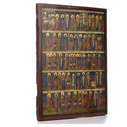Icona russa antica Menologio di Ottobre XVIII sec 2