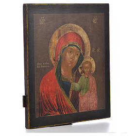 Russian icon Virgin of Kazan XVIII century s2