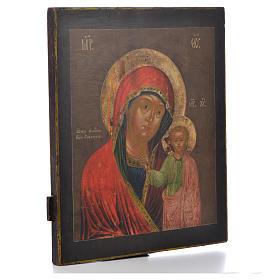 Russian icon Virgin of Kazan XVIII century s2