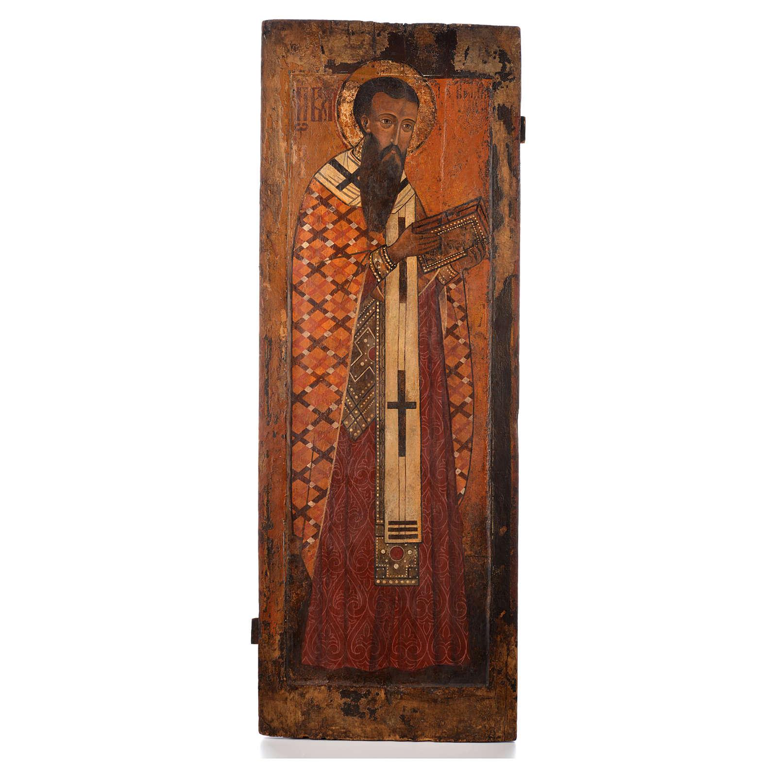Icona russa antica S. Basilio il grande XVI sec. Iconostasi 4