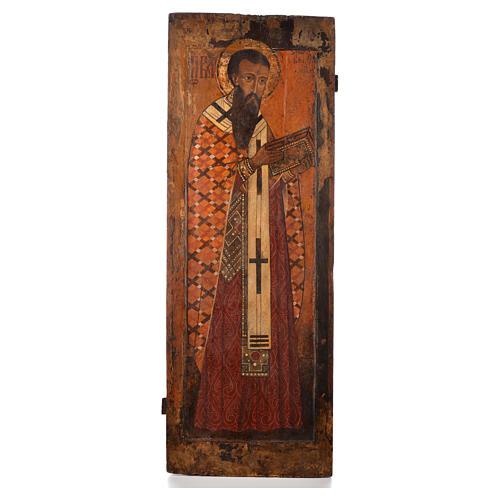 Icona russa antica S. Basilio il grande XVI sec. Iconostasi 1