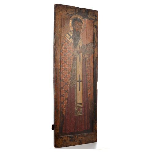 Icona russa antica S. Basilio il grande XVI sec. Iconostasi 2