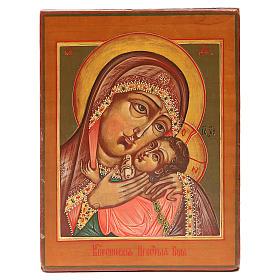 Icona antica russa Madonna Korsunskaya XIX secolo Restaurata s1