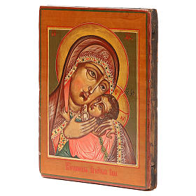 Icona antica russa Madonna Korsunskaya XIX secolo Restaurata s2