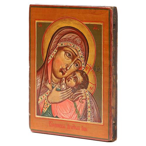 Icona antica russa Madonna Korsunskaya XIX secolo Restaurata 2