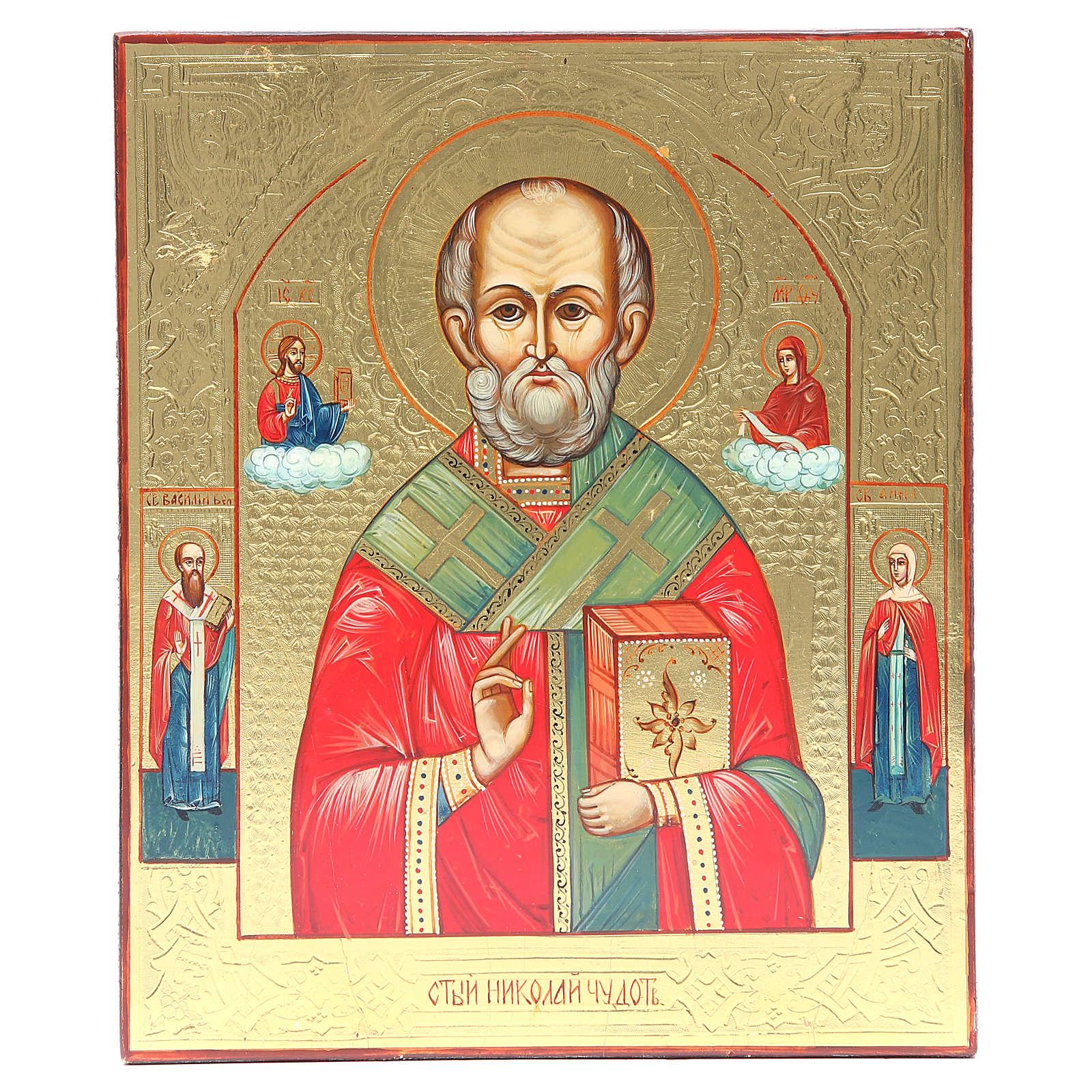 Icono ruso San Nicolás XX siglo restaurado 4