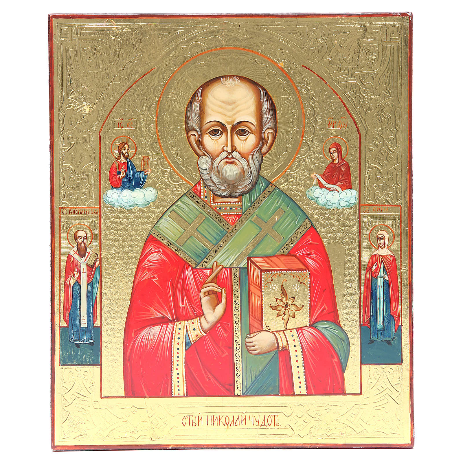 Icône russe Saint Nicolas XX siècle restaurée 4