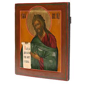 Ikona rosyjska antyk Św. Jan Baptysta XIX wiek Odrestaurowana s2