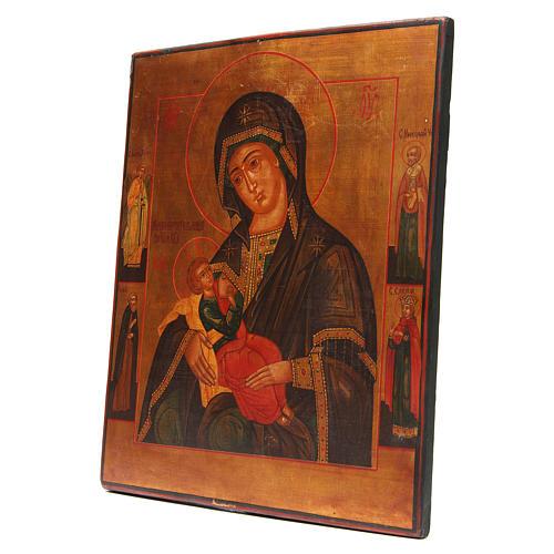 Icona antica russa Madonna del Latte Restaurata XX secolo 2