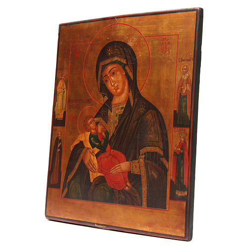 Nursing Madonna antique Russian icon, restored XX century 2