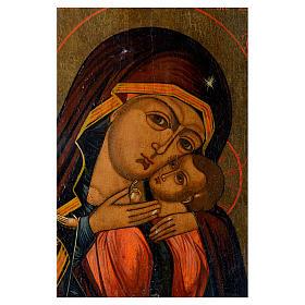 Icona antica russa Madonna di Korsun 35x30 cm XIX secolo s2