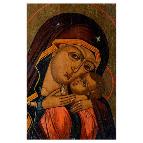 Icona antica russa Madonna di Korsun 35x30 cm XIX secolo 2