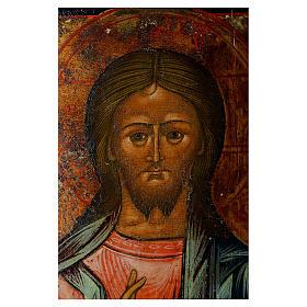 Trittico icona russa antica Deesis (intercessione) 45x35 cm s3