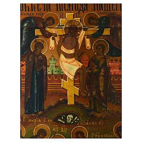 Icono antiguo ruso Descendimiento de la Cruz y Santo Entierro s2