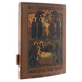 Icono antiguo ruso Descendimiento de la Cruz y Santo Entierro s3