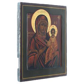 Icona Madonna Smolenskaya antica Restaurata XX secolo 30x25 s3