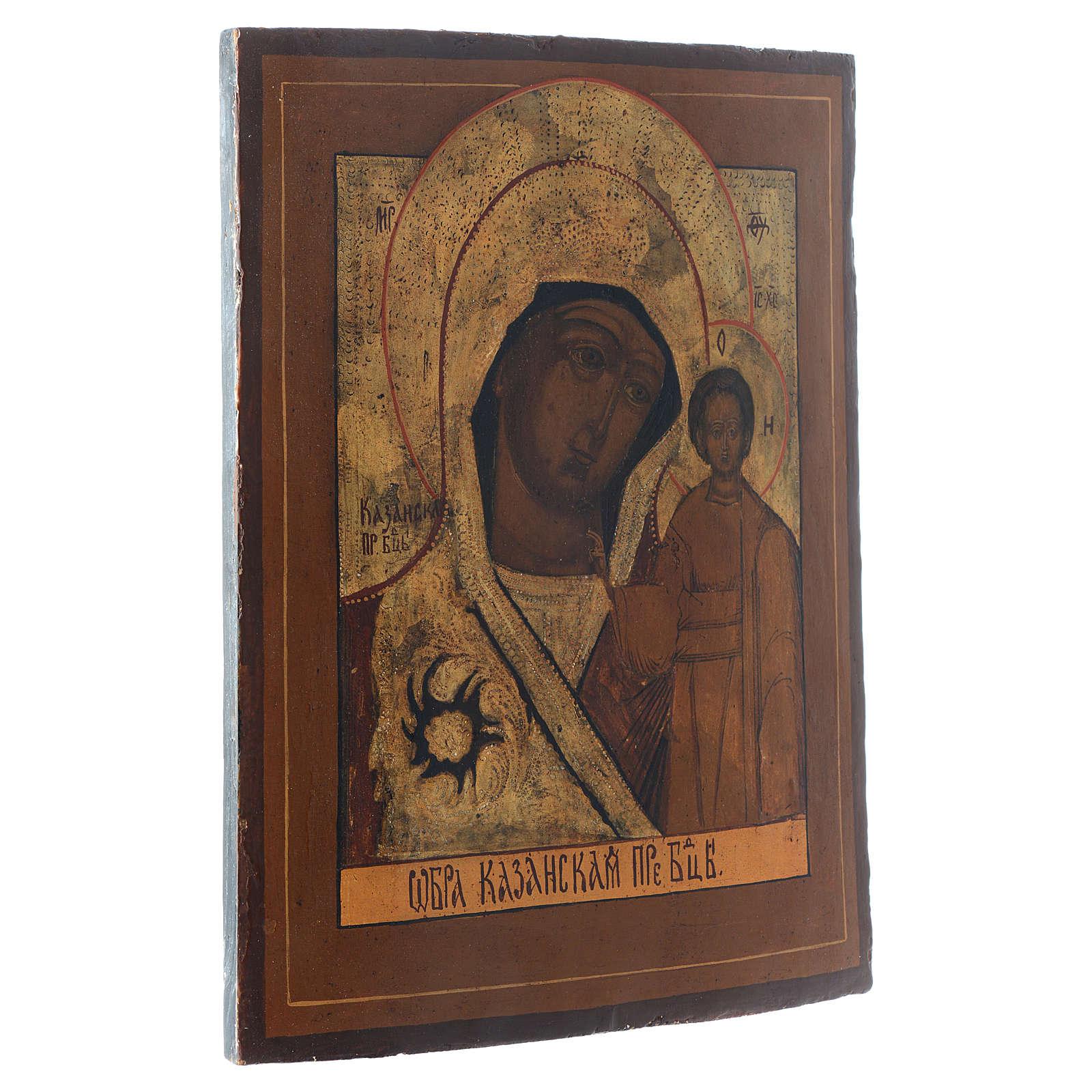 Kazanskaya antique icon, 40x30 XIX century 4