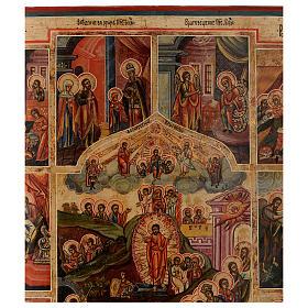 Icona le 12 feste antica Russa 54x37 cm s4
