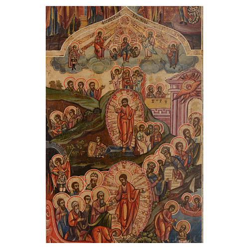 Icona le 12 feste antica Russa 54x37 cm 2