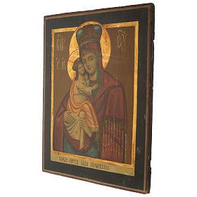 Icona antica russa Madonna Pochaevskaya 50x40 cm epoca zarista s3