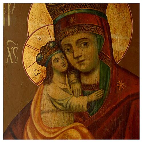 Icona antica russa Madonna Pochaevskaya 50x40 cm epoca zarista 2