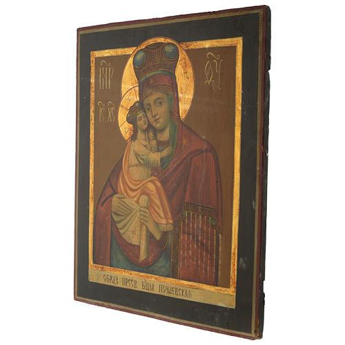 Icona antica russa Madonna Pochaevskaya 50x40 cm epoca zarista 3