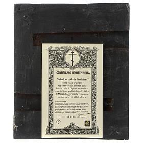 Icona antica russa Madonna delle Tre Mani 30x25 cm epoca zarista s5